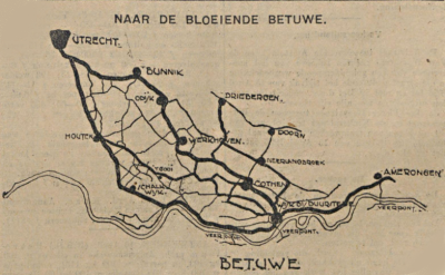 Betuweroute langs Cothen anno 1926